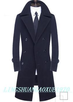 Winter double-breasted wool coat mens trench coats slim fashion casual coat men overcoat jaqueta masculina plus size S – 9XL