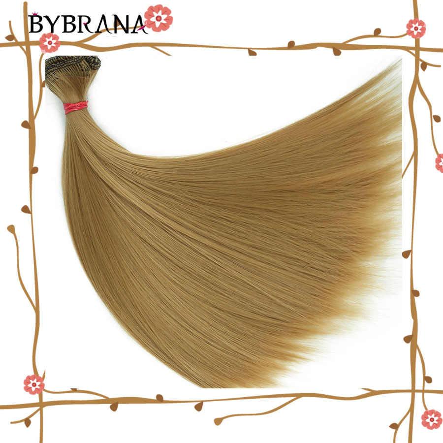 Bybrana 15 см * 100 см и 25 см * 100 см длинные прямые высокотемпературные волокна BJD SD парики DIY Волосы для кукол бесплатная доставка