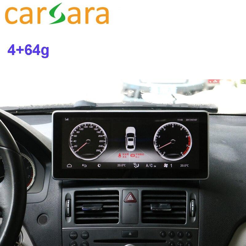 Pantalla de Radio de coche para Mercedes Ben z clase W204 GLC W205 2008 a 2018 4G RAM 64G ROM