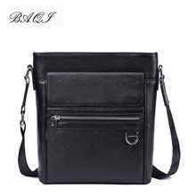 купить BAQI Brand Men Handbags Genuine Leather Soft Cowhide High Quality Men Shoulder Bags Men Messenger Bag 2019 Fashion Business Bag по цене 2507.55 рублей
