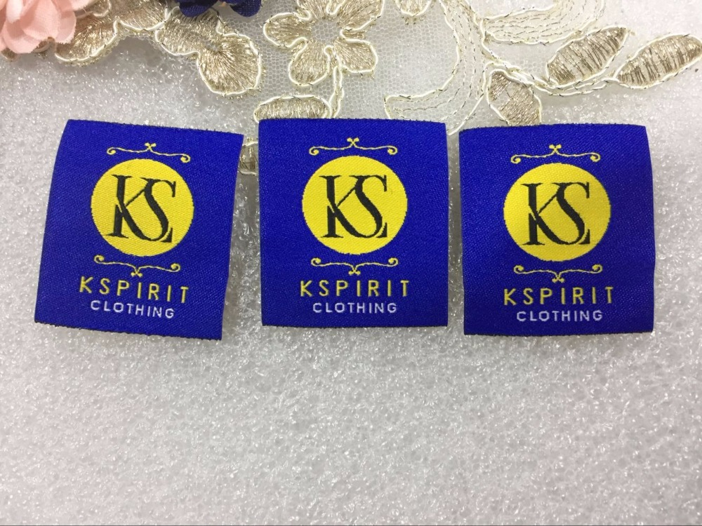 Free shipping Customized 1000pcs lot garment clothing tags Woven Labels custom clothing labels main labels