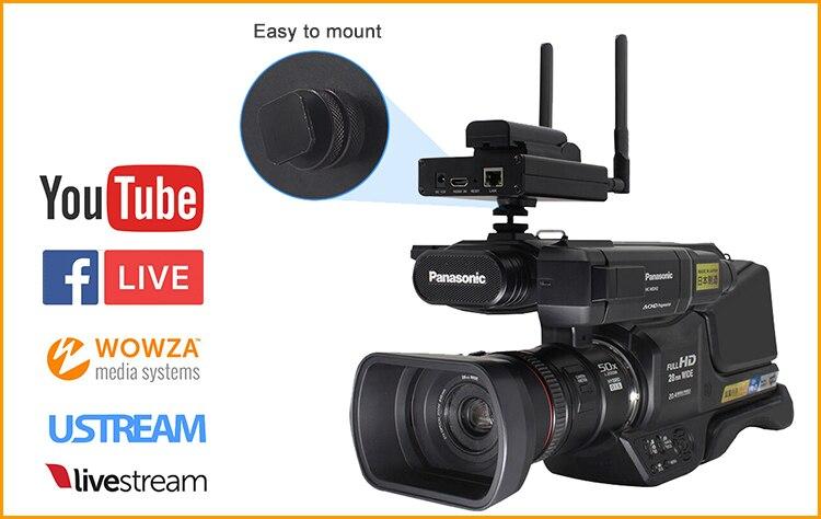 H.265/HEVC H.264/AVC SDI wifi кодировщик поддержка HD-SDI 3G-SDI поддержка RTMP для прямой трансляции, как Wowza, FMS, Youtube, Facebook