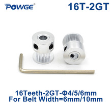 Timing Pulley Small 16teeth POWGE GT2 6mm/10mm Backlash Bore 2GT for Open-Synchronous-Belt