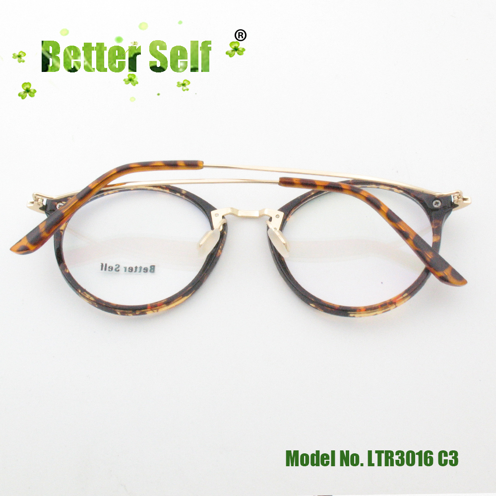 537177b2373 Better Self Stock LTR3016 Retro Round Glasses Frame Men Computer Lentes PC  Opticos Mujer Metal Temple Eyeglasses Women-in Eyewear Frames from Apparel  ...
