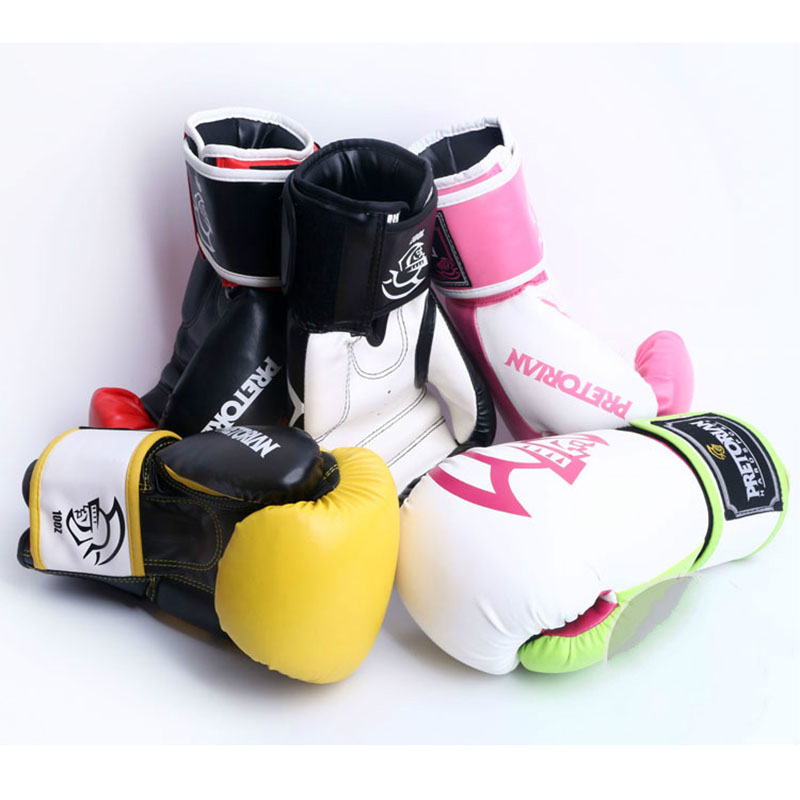 New PRETORIAN Adult Gym Boxing Training Gloves for Fitness MMA Muay Thai Kick Boxing Mittens Gloves 10OZ 12OZ 14OZ Q цена
