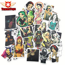 47Pcs Styling Pvc Backpack Funny Sexy beauty Girls Stickers For Laptop Motorcycle Skateboard Luggage Decal Toy