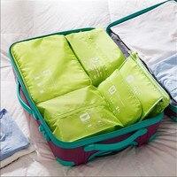 5 pieces / set Travel multifunctional storage bag Bedroom living room closet cosmetic storage bag Sundries clothes sorting bag