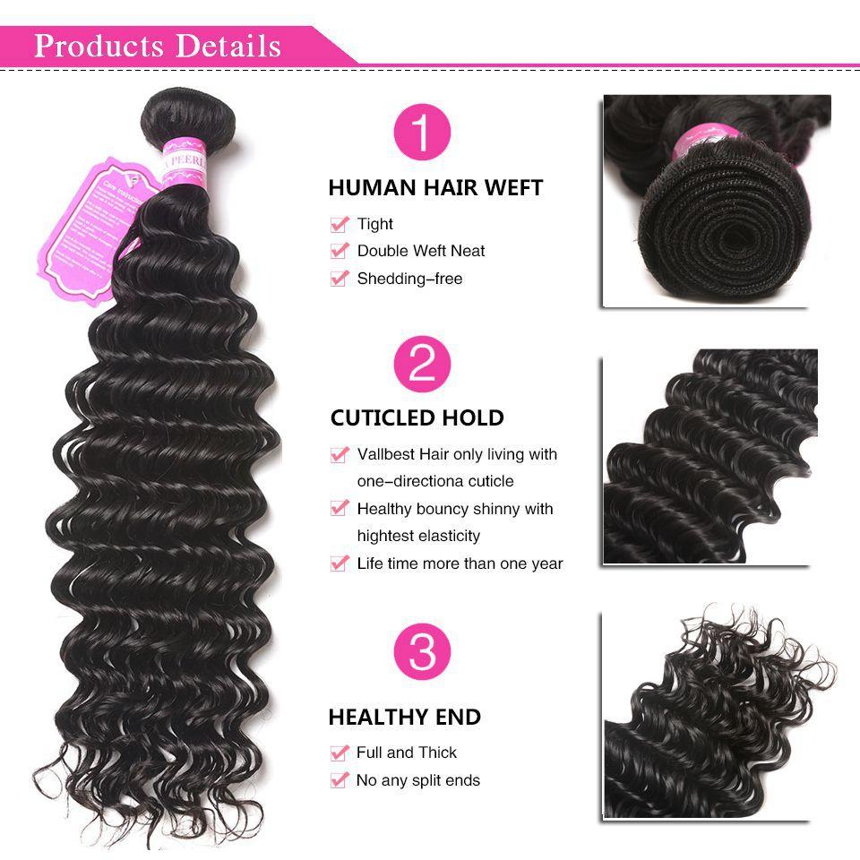 Malaysian Hair Deep Wave Bundles Can Buy 3/4 Pcs/lot Natural Color / 1b 8-28 Inches 100% Human Hair Bundles Non Remy