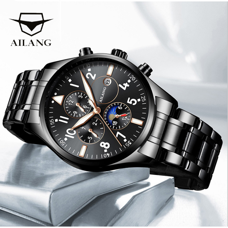 AILANG AAA Mens watch quality Automatic mechanical diesel reloj diver men commander steampunk clock moon phase sea gull watchesAILANG AAA Mens watch quality Automatic mechanical diesel reloj diver men commander steampunk clock moon phase sea gull watches