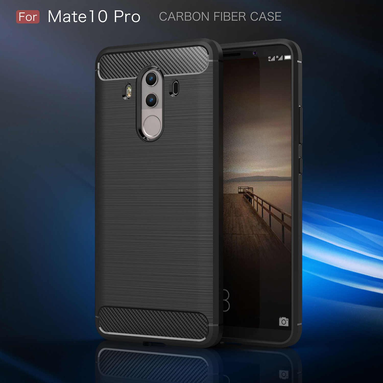 Funda de fibra de carbono para Huawei Mate 10 Lite Pro Mate RS Mate 20 Lite Pro 20X funda suave TPU funda de silicona para teléfono