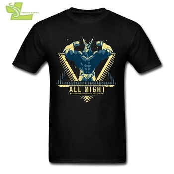 All Might My Hero Academia Anime Cool Tee Shirts 남성 크루 넥 반팔 티셔츠 Hot Selling T Shirt Dress Plus Size