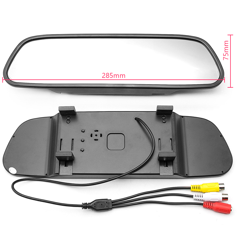 HD Video Parking Assistance 4.3 inch Car Interior Mirror Monitor With CCD Rear View Camera Night Vision Glass Lens Camera
