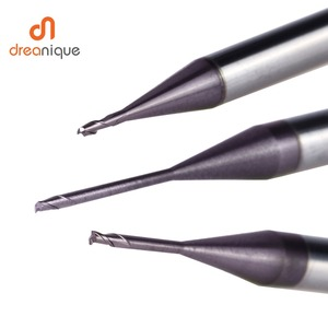 Image 5 - 1pc 2 flute cabide end mill d0.5 d2.0 for deep slot milling mold making long neck end mills cnc milling cutter mold end mills