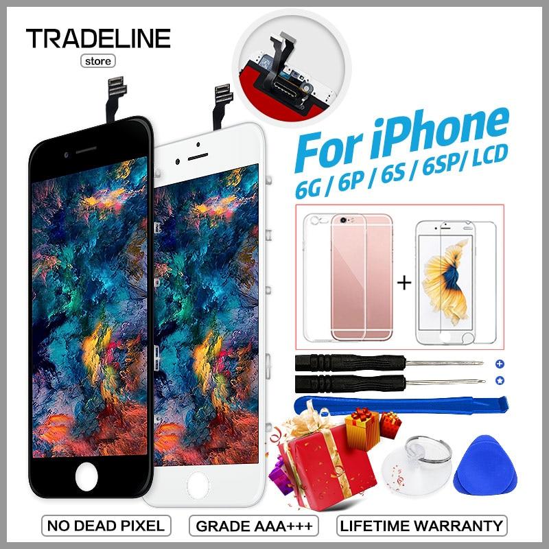 Calidad AAA LCD para iPhone 4 5S 6 pantalla para iPhone 6 6 s Plus LCD reemplazo de la pantalla táctil de la Asamblea 100% nuevo No píxel muerto Ecran