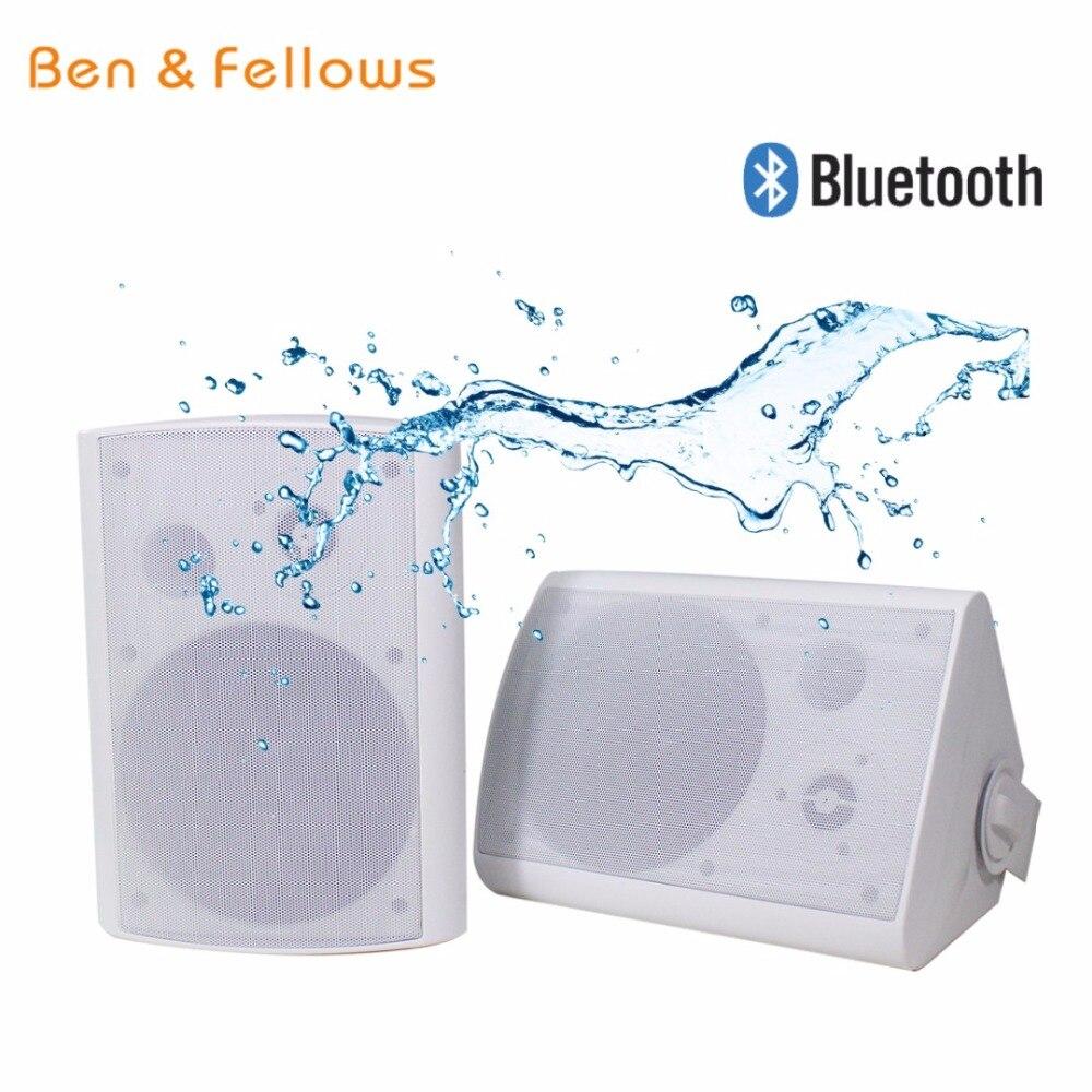 2-kanal 2x30 W 8ohm Drahtlose Wasserdichte Bluetooth Wand Halterung Box Lautsprecher In Paar Eine Aktive Passive