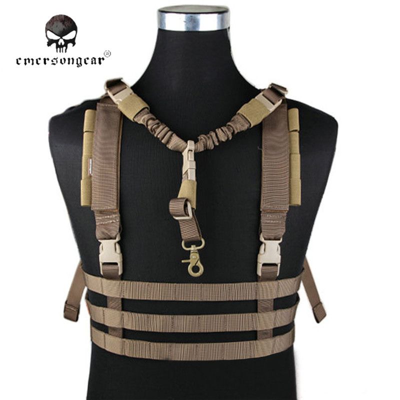 Emersongear MOLLE Tactical Low Profile Vest Chest Rig Military Combat Shooting Camouflage Hunting Vests Men Clothing EM7452