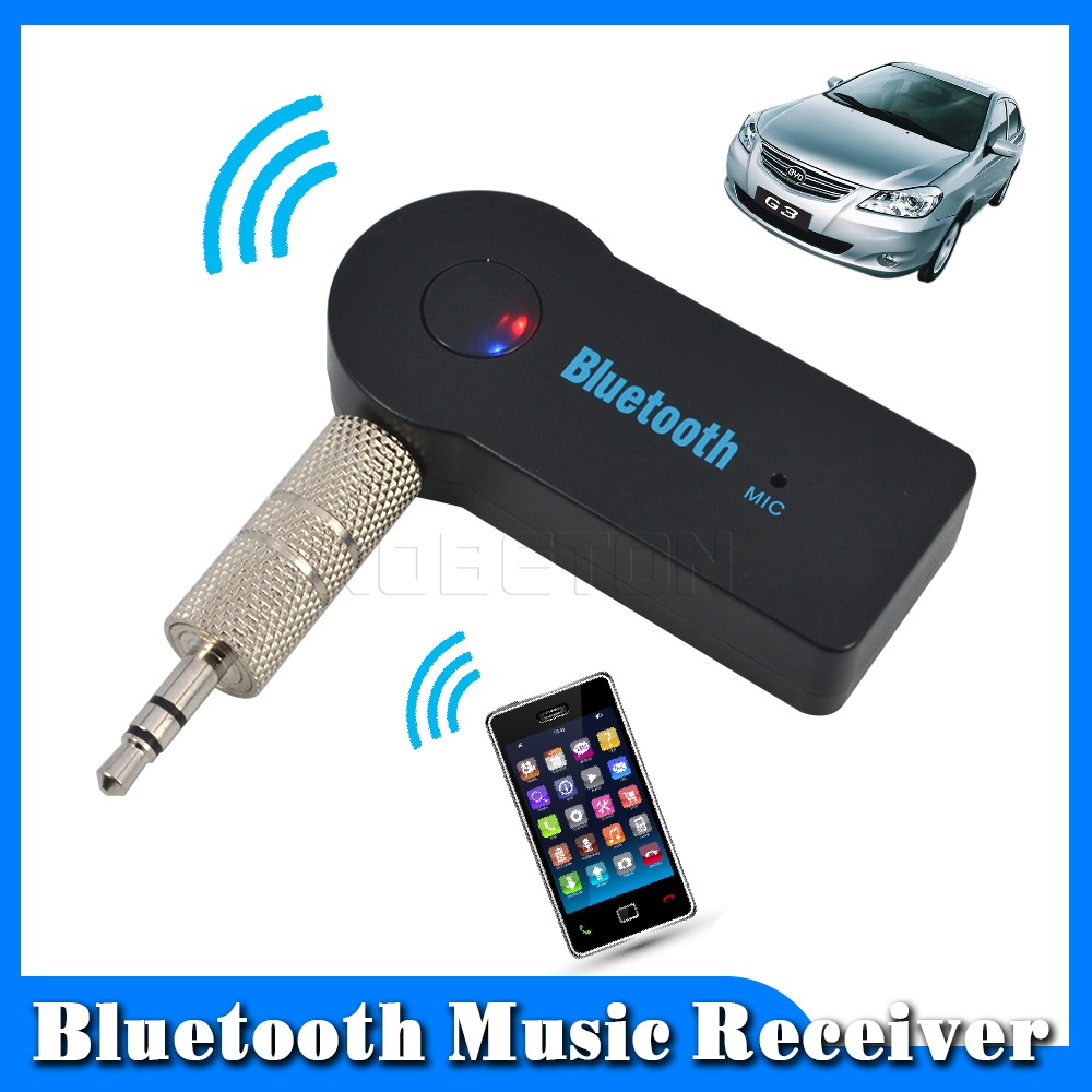 2016 Handfree Car Bluetooth Music Receiver Universal 3.5mm Streaming A2DP Wireless Auto AUX