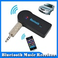 2016 Manos Libres de Coche Bluetooth Music Receiver Adaptador Universal de 3.5mm AUX Audio Streaming A2DP Inalámbrica Automática Con El Mic Para El Teléfono MP3