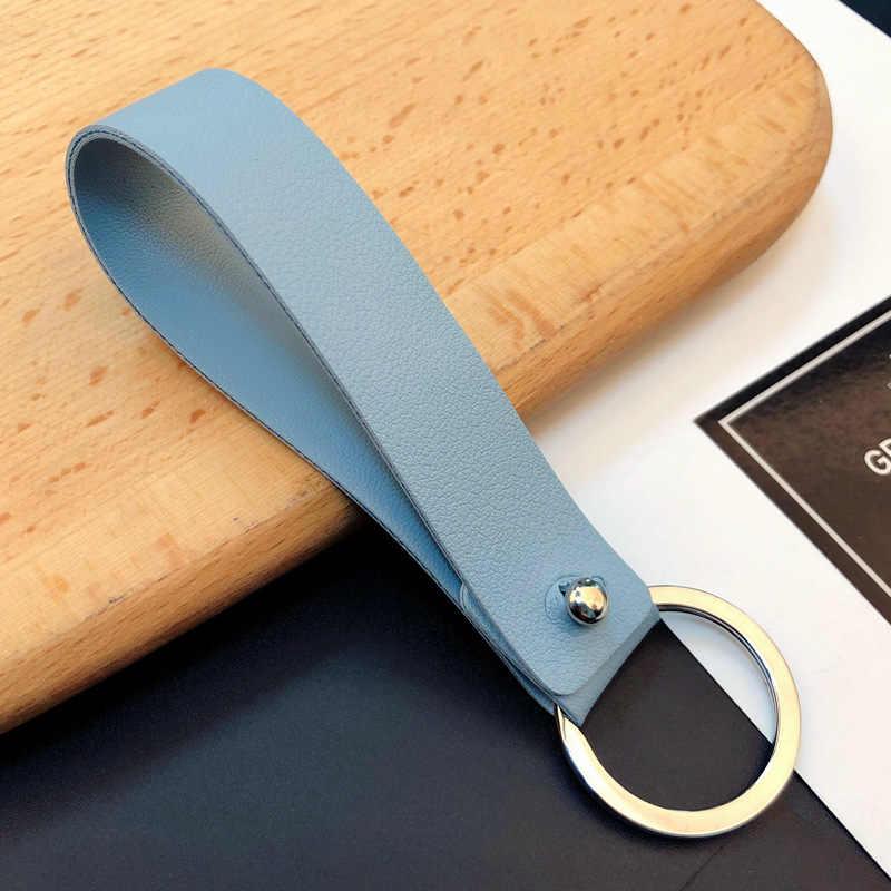Fashion Kulit PU Gantungan Kunci Mobil Llavero Sederhana Pria dan Wanita Pinggang Gantungan Kunci Pecinta Pesona Gantungan Kunci Sayang Gantungan Kunci Porte clef