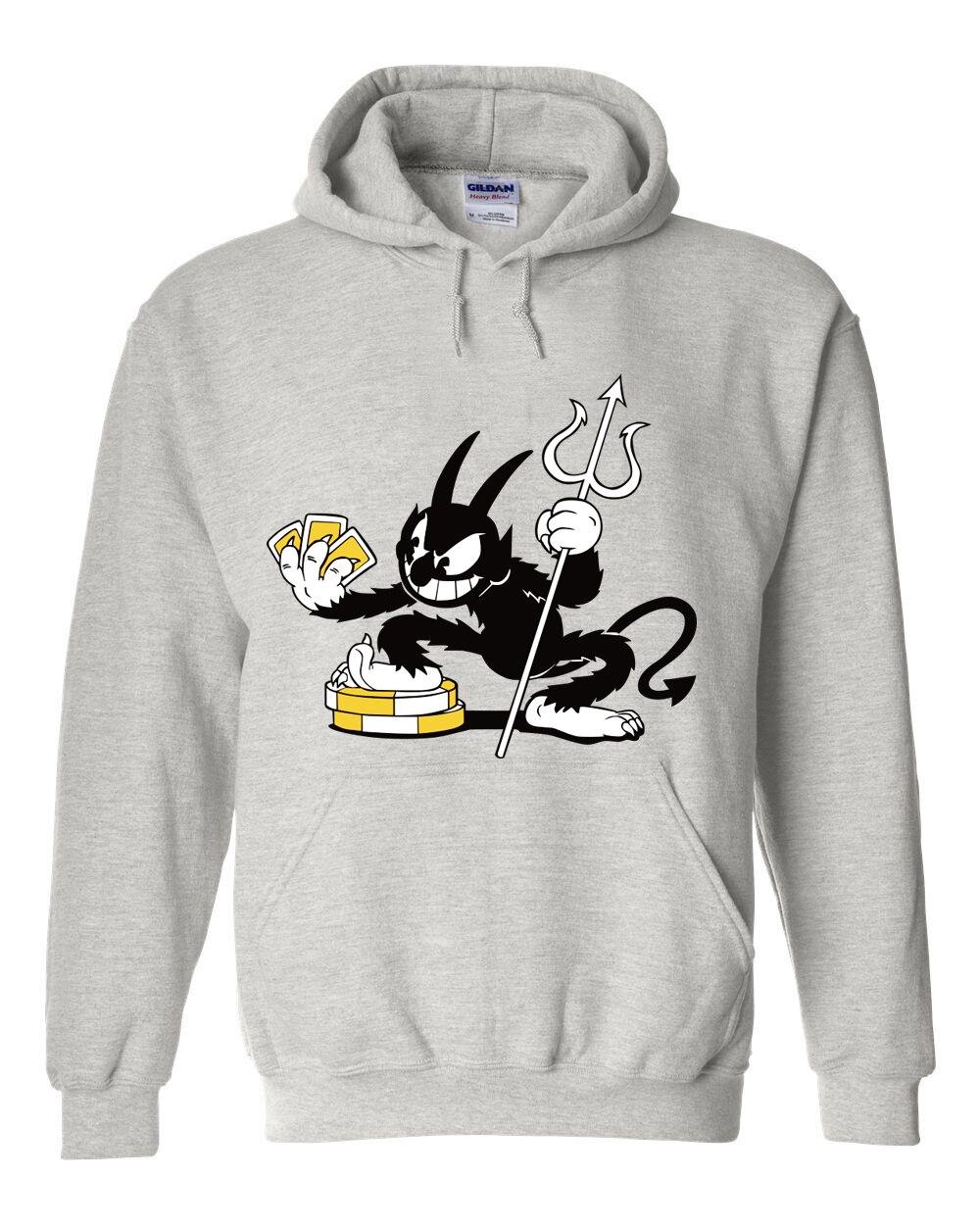 Devil Boss Cuphead MugmanGame Jacket Cuphead Coats Cosplay only Gray Teacap Costume Warm Winner Sweatshirt Cosplay