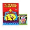 Frete Grátis Pequeno Engraçado Livro de Colorir Livros Comédia Mágica Close-up de Rua Truques de Mágica Spellbook Grimoire Enigma Criança Cabrito brinquedo