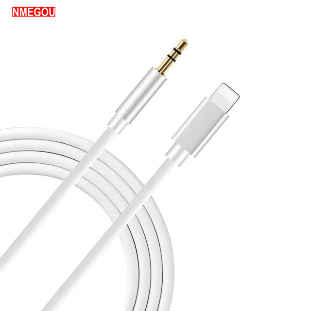reputable site 03e55 1e918 US $3.99 20% OFF|Lighting To 3.5mm Jack Audio Extension Cable Aux Cord for  IPhone XS Max XR X 10 8 7 6 6S Plus Car Speaker Headphone Connector-in ...