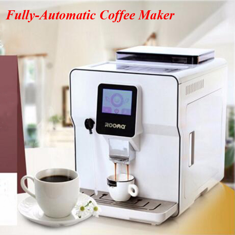 1.7L Fully Automatic Coffee Maker Touch Screen Cappucinno Latte Espresso Coffee Cafe Machine