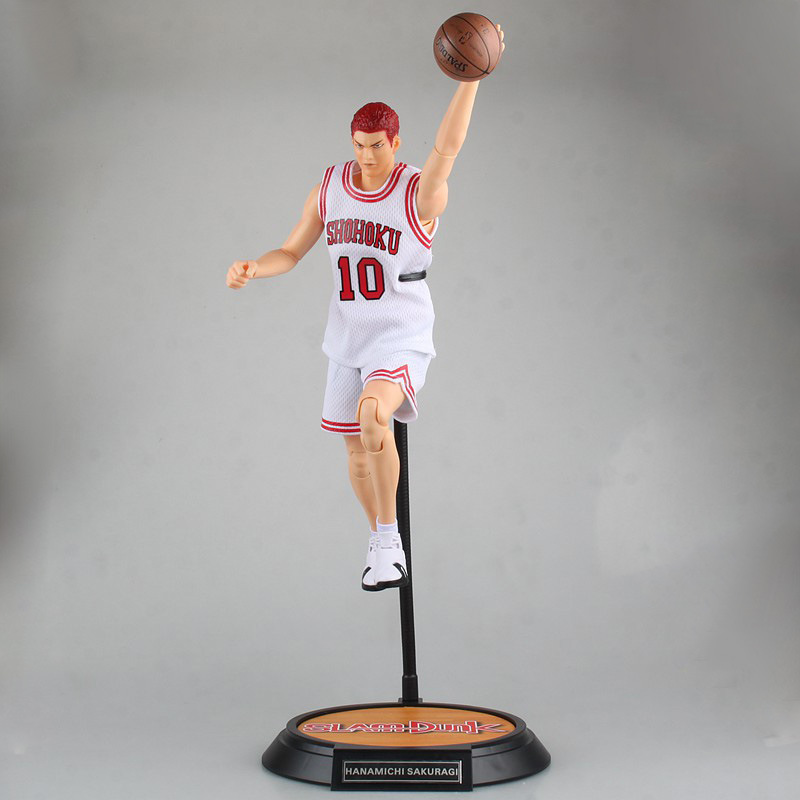 SLAM DUNK Hanamichi Sakuragi action figure white Number 10 ball suit figure model pvc classic collection toy garage kit 34cm anime one piece dracula mihawk model garage kit pvc action figure classic collection toy doll