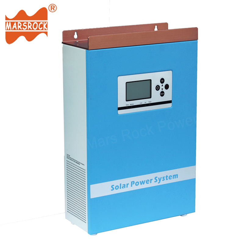 500W 24V to 110V 220V Wall-mounted Hybrid Controller Inverter with Off Grid Solar Power System Pure Sine Wave with LCD Display nv q4500w 20a intelligent dual solar power transfer controller regulador solar dual for 12v 24v solar power system 110v 220 240v
