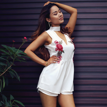 So Charm Summer Jumpsuit New Female Bodysuit Women Overalls Deep V Catsuit Jumpsuits Macacao Body Feminino Romper Playsuit 0331