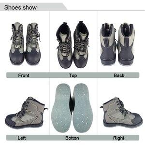 Image 4 - Waders Fly Fishing Shoes Nails войлочная Подошва И Поясные штаны, одежда с ремнем, водонепроницаемый охотничий костюм, сапоги для верховой езды, водонепроницаемая обувь