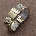 Cinta banda para banda relógio marca de relógio de aço inoxidável 2016 laços sólidos acessórios pulseira de ouro preto 18mm 20mm 22mm 24mm nova