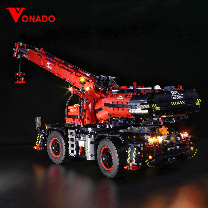 Led light for LEGO Mechanical Group 42082 Complex Terrain Crane for lego Technic series Boy girl