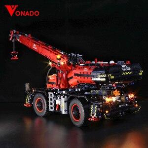 Image 1 - Светодиодная лампа для LEGO Mechanical Group 42082, кран с комплексным рельефом для lego Technic серии, мальчик, девочка, строительные блоки, игрушка (только свет)