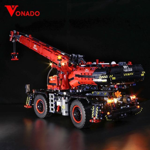 Led ライトのための機械式グループ 42082 のための複雑な地形クレーンテクニックシリーズ少年少女ビルディングブロックおもちゃ (光のみ)