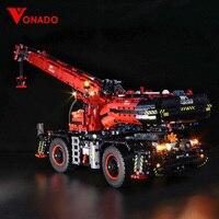 Led light for LEGO Mechanical Group 42082 Complex Terrain Crane for lego Technic series Boy girl Building Block Toy (only light)