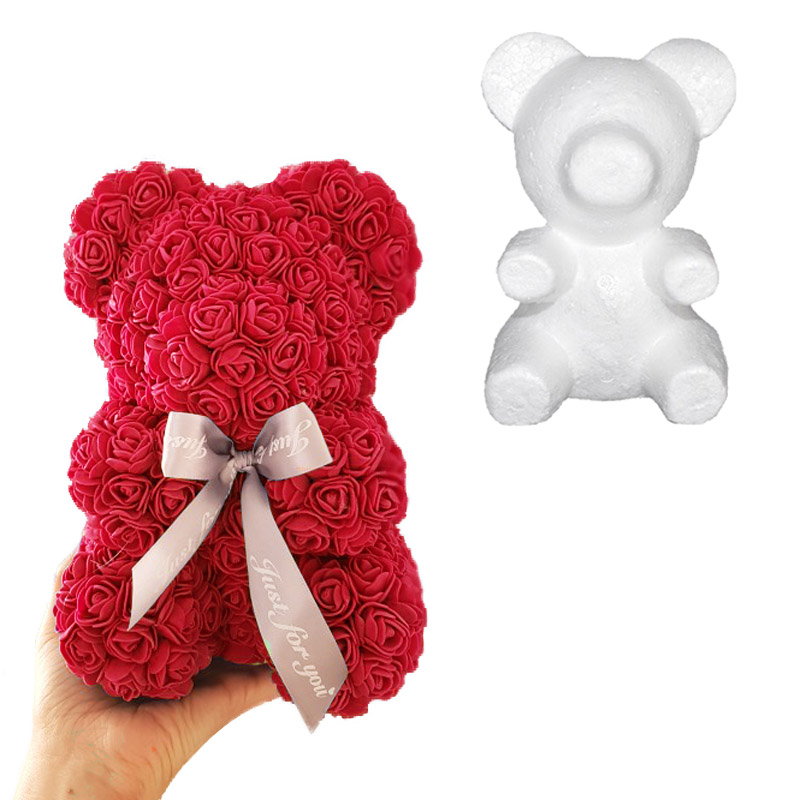 1pcs Modelling Polystyrene Styrofoam Foam Teddy Bear White Craft Ball For DIY Christmas Party Decoration Birthday Supplies Gifts