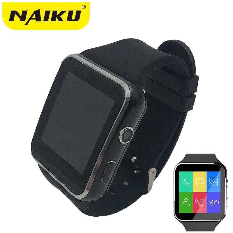 N6 Smartwatch Bluetooth Relógio Inteligente Esporte Passometer com Suporte de Câmera Cartão SIM Whatsapp Facebook para Android Telefone