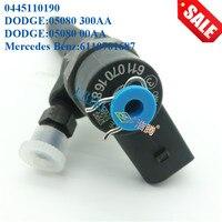 Erikc 0445 110 190 auto injector de combustível 0445110190 assy injector trilho comum motor inyector bomba 0445110189 para dodge mercedes