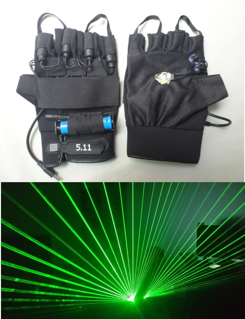 532nm Green Laser Gloves 80 beam Stage Laser lighting Chargeable DJ Club Show Left or Right hand 1pc Fantasy Cool Laser Lighting стоимость