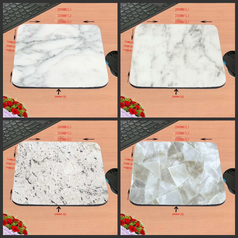 2017 Hot White marble Design Anti-slip Durable New Arrival Customized Rectangular Mouse Pad Computer PC Nice Gaming As Gift