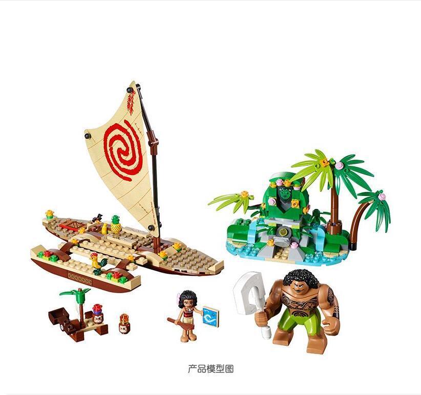 Voyage océan de vaiana Moana 322 pièces princesse Moana legoing 41150 ensemble filles amies modèles & blocs de construction jouets