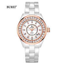 Reloj Mujer BUREI marka luksusowe kobiety zegarki damskie moda wodoodporny kryształ Sapphire zegarek kwarcowy 2020 Relogio Feminino