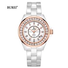Reloj Mujer Burei Brand Luxe Vrouwen Horloges Dames Mode Waterdichte Crystal Sapphire Quartz Horloge 2020 Relogio Feminino