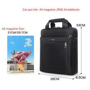 Image 5 - Men Small Briefcase Vertical Document Pack Mens Single Shoulder 12 inch IPAD Bag Male Waterproof Nylon Messenger Bag Sac Homme