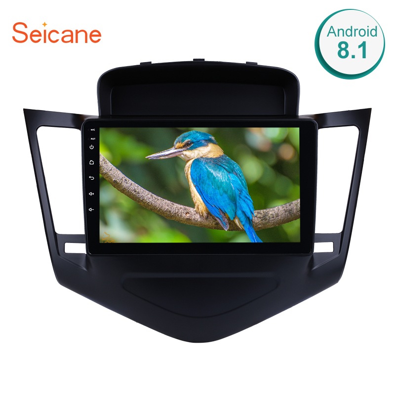 Seicane 2din android 8.1 9 Polegada reprodutor multimídia do carro dvd para chevrolet cruze 2012 2013 2014 2015 quad-core 1024*600 gps wifi