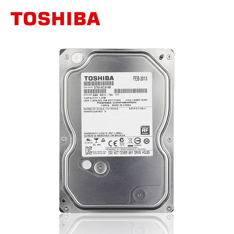 TOSHIBA 1TB Hard Drive Disk 1000GB 1T Internal HD HDD 7200RPM 32M 3.5 SATA 3 for Desktop PC Computer new and retail package for 454273 001 mb1000ecwcq 1 tb 7 2k sata 3 5inch server hard disk drive 1 year warranty