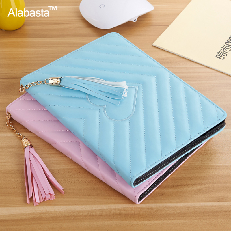 Alabasta Case for funda iPad Air 1 Air 2 Case 2016 Release 9.7inch  Luxury Leather Grid Tassels Stand Cover Rivets Grid Tassels case for funda ipad pro 12 9 luxury business leather case tablet 12 9 inch wake up hand belt holder stand flip bags alabasta