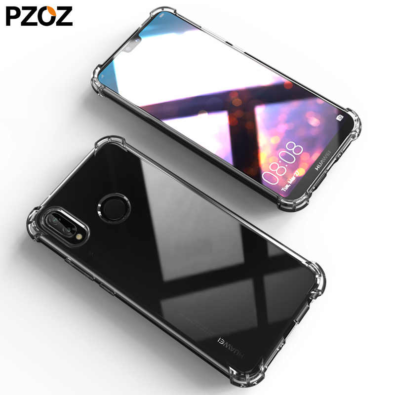 PZOZ هواوي ميت 20 لايت p20 برو غطاء سيليكون فاخر للصدمات شفافة واقية p 20 20x الهاتف الشرف 8x hawei ماكس