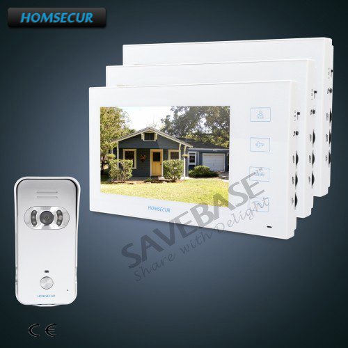 HOMSECUR 1C3M 7inch Wired Video&Audio Smart Doorbell+Silver Camera for House/Flat HOMSECUR 1C3M 7inch Wired Video&Audio Smart Doorbell+Silver Camera for House/Flat